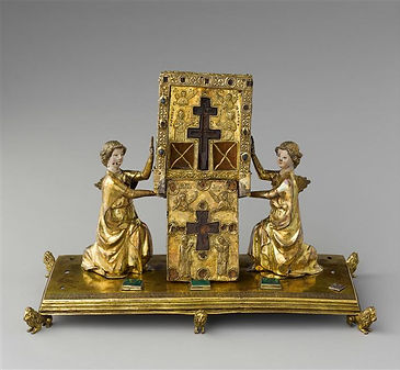 Reliquary of the True Cross borne by two angels