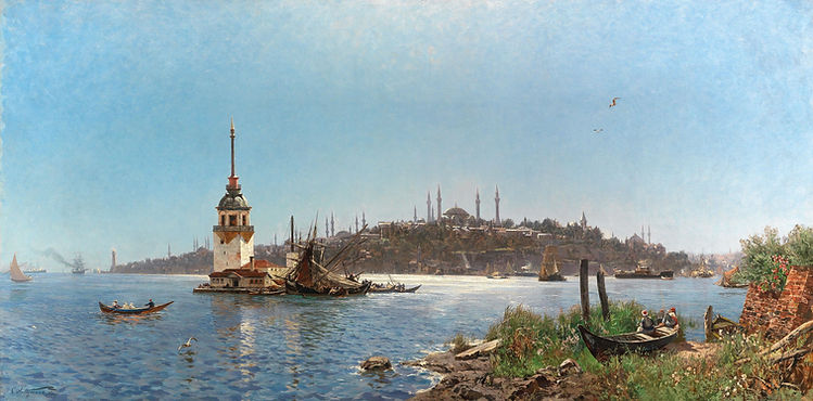 """""""A View of Constantinople"""" by Carl Saltz"""