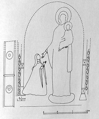 Reconstruction of Fresco of Hodegetria a