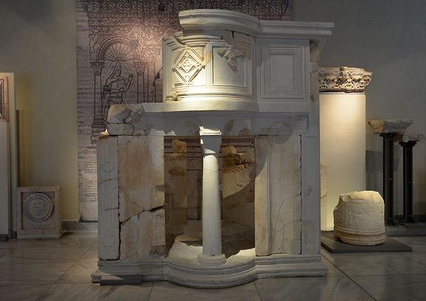 Fan shaped ambo from the Basilica near t