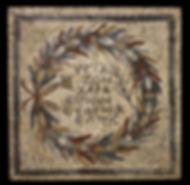 Mosaics with inscription