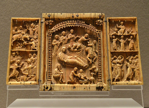 Triptych with scenes from the Life of Ch