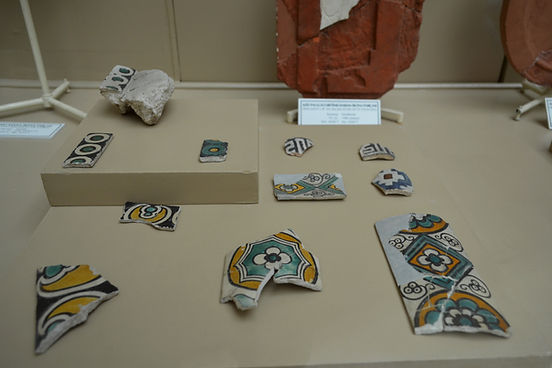 Fragments from revetment tiles from the