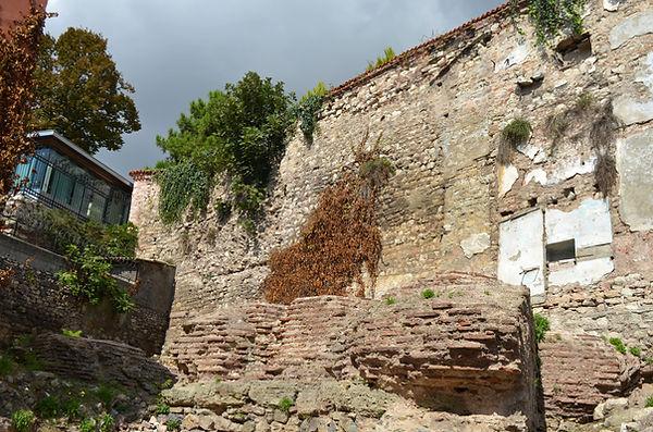 Ruins by terrace wall near Akbıyık Değirmeni Street.jpg