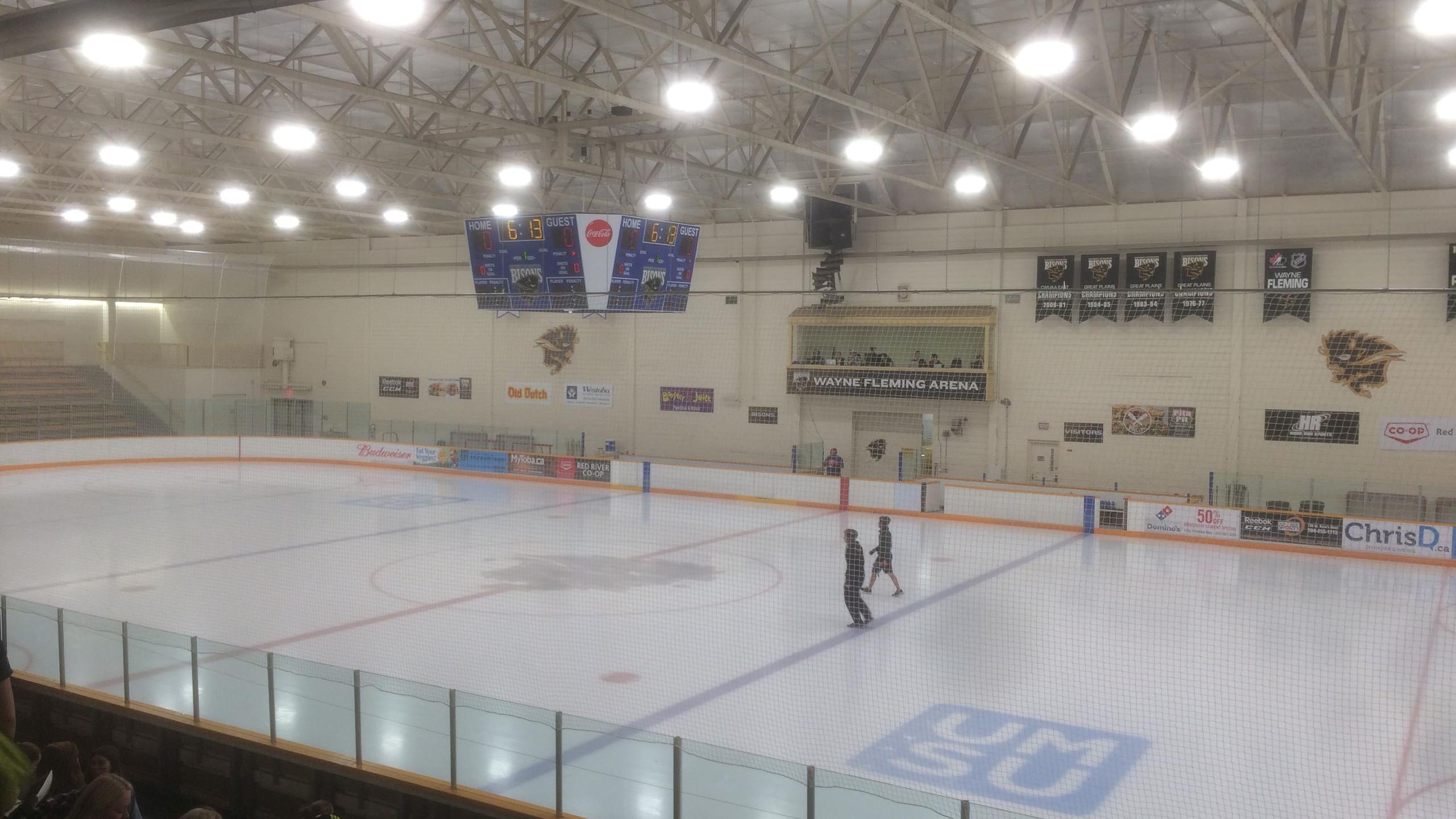 IJshockeypiste op de campus