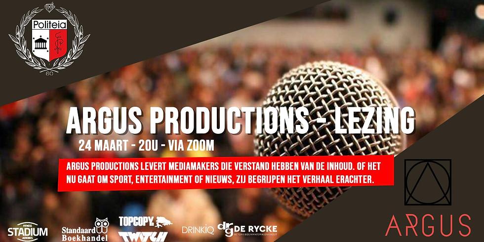 Lezing Argus Productions