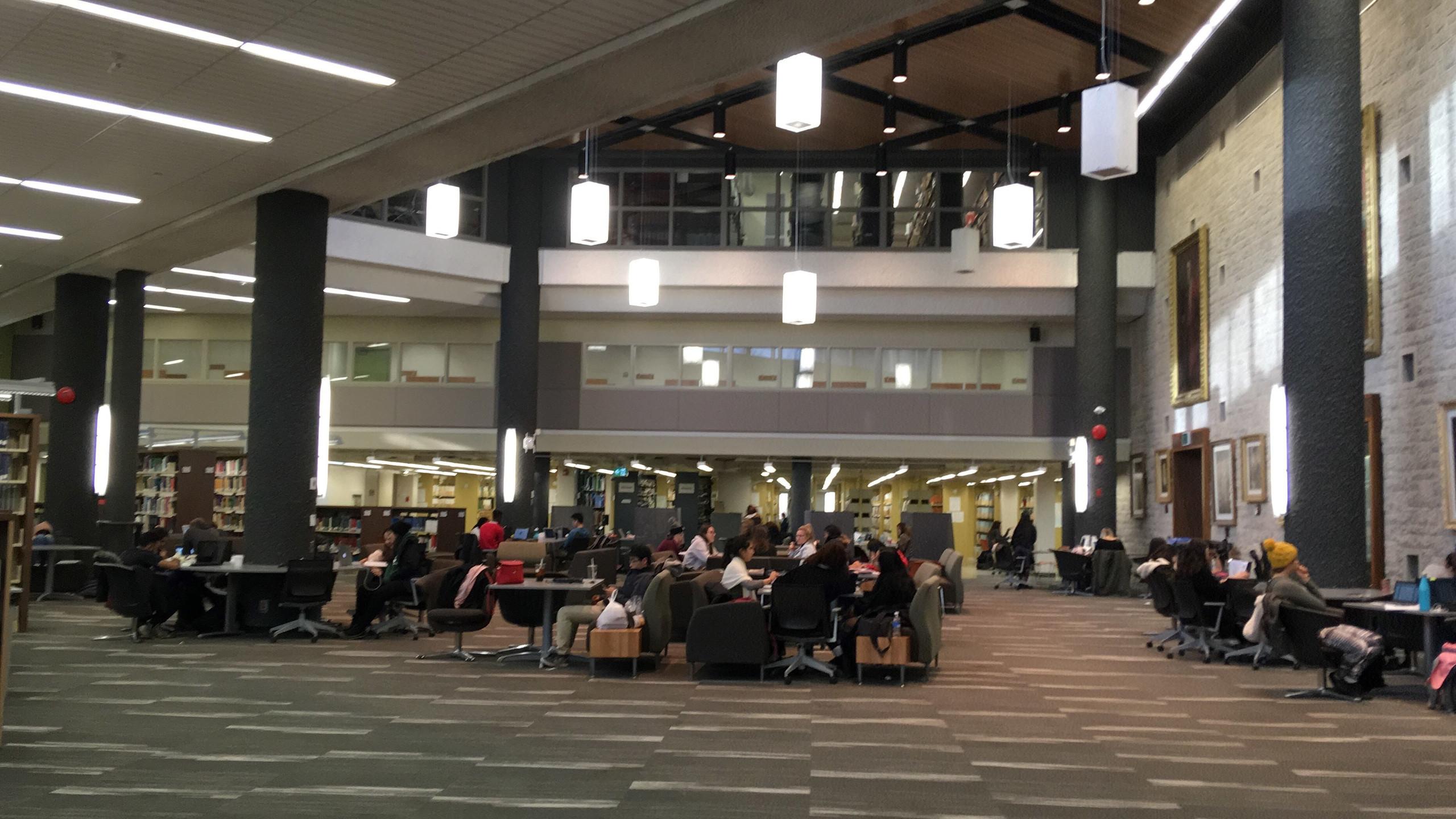 De koffiebar in de bibliotheek
