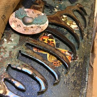 handmade book rusted ribcage ©Glenda Mil