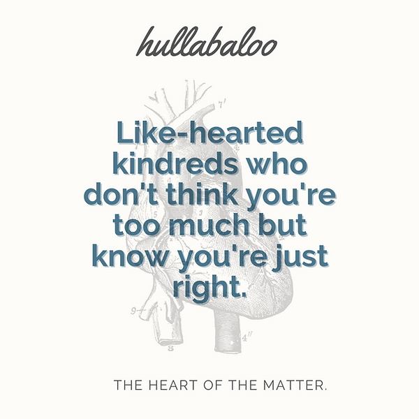 Just Right Hullabaloo Like Hearted glend
