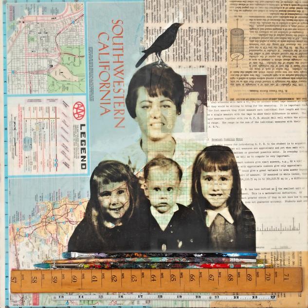 Encaustic Story Collage Ephemera Paducah