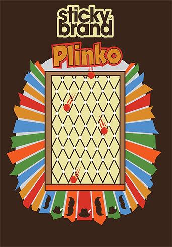 Plinko sponsored by the sticky brand