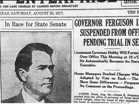 That Time Texas Impeached Its Governor.