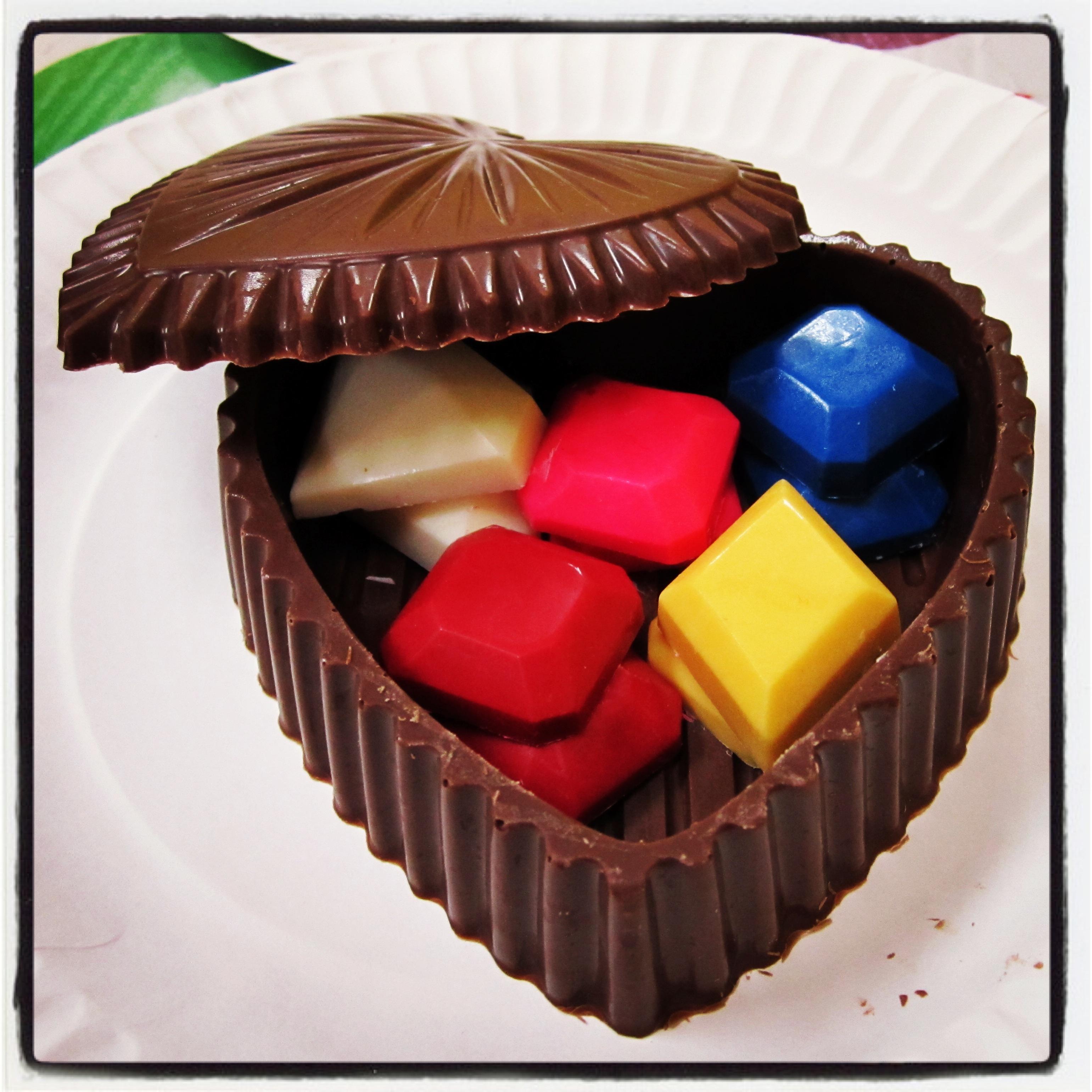 Chocolate Heart Jewelry Box