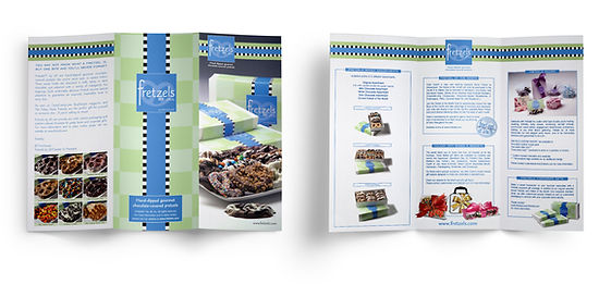 Fretzels tri-fold brochure design