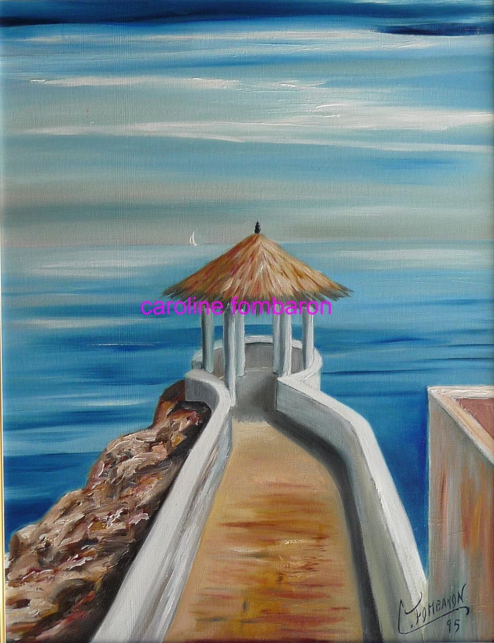 Au bout de la jetée en Martinique