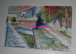 Lavoir d'Argence aquarelle