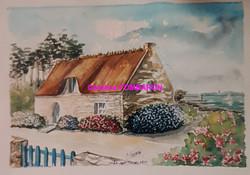 Les Hortensias aquarelle