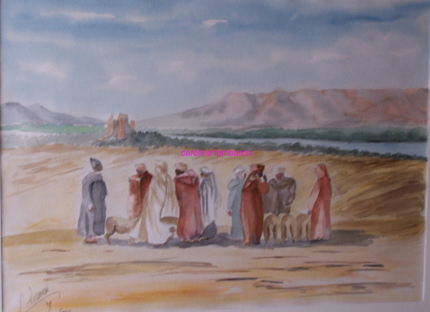 Vallée du Draa (aquarelle)