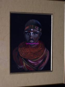 Jeune guerrier Masaï ( huile )