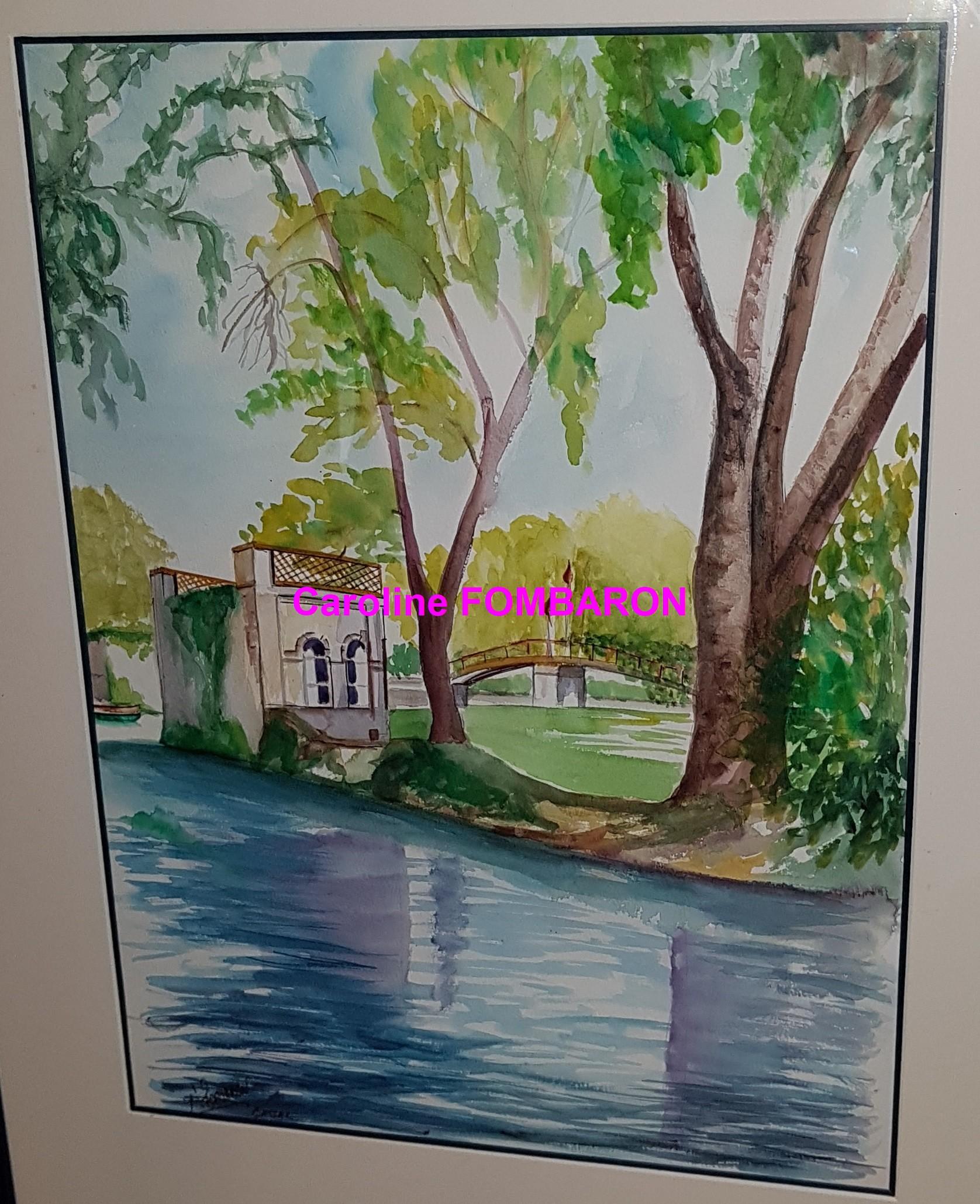 Bassac aquarelle 50 x65