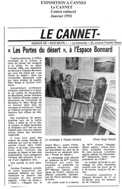 Janvier 1993 - Le Cannet