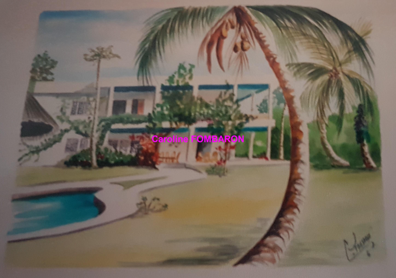 Abidjan aquarelle