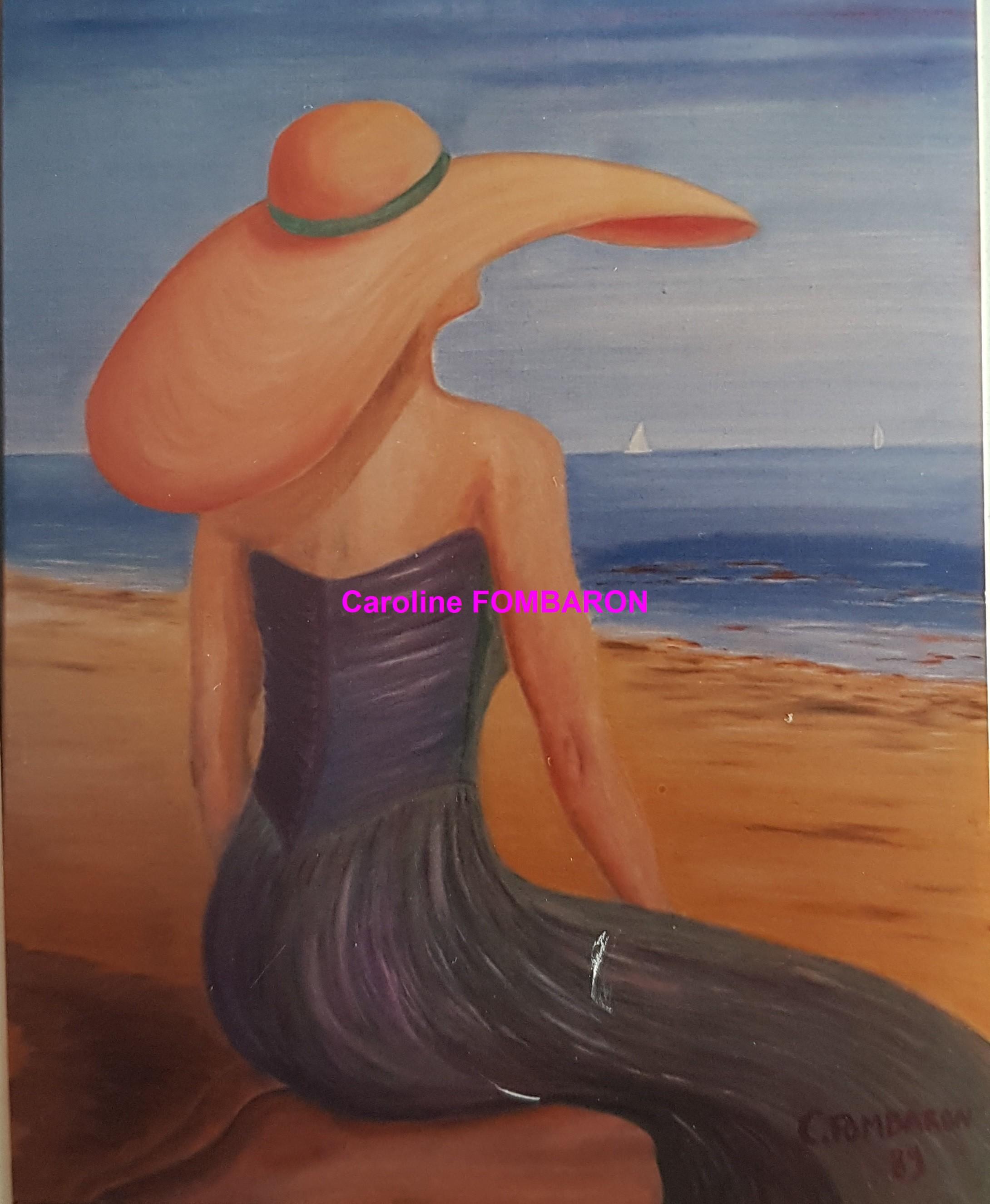 La dame sur la plage