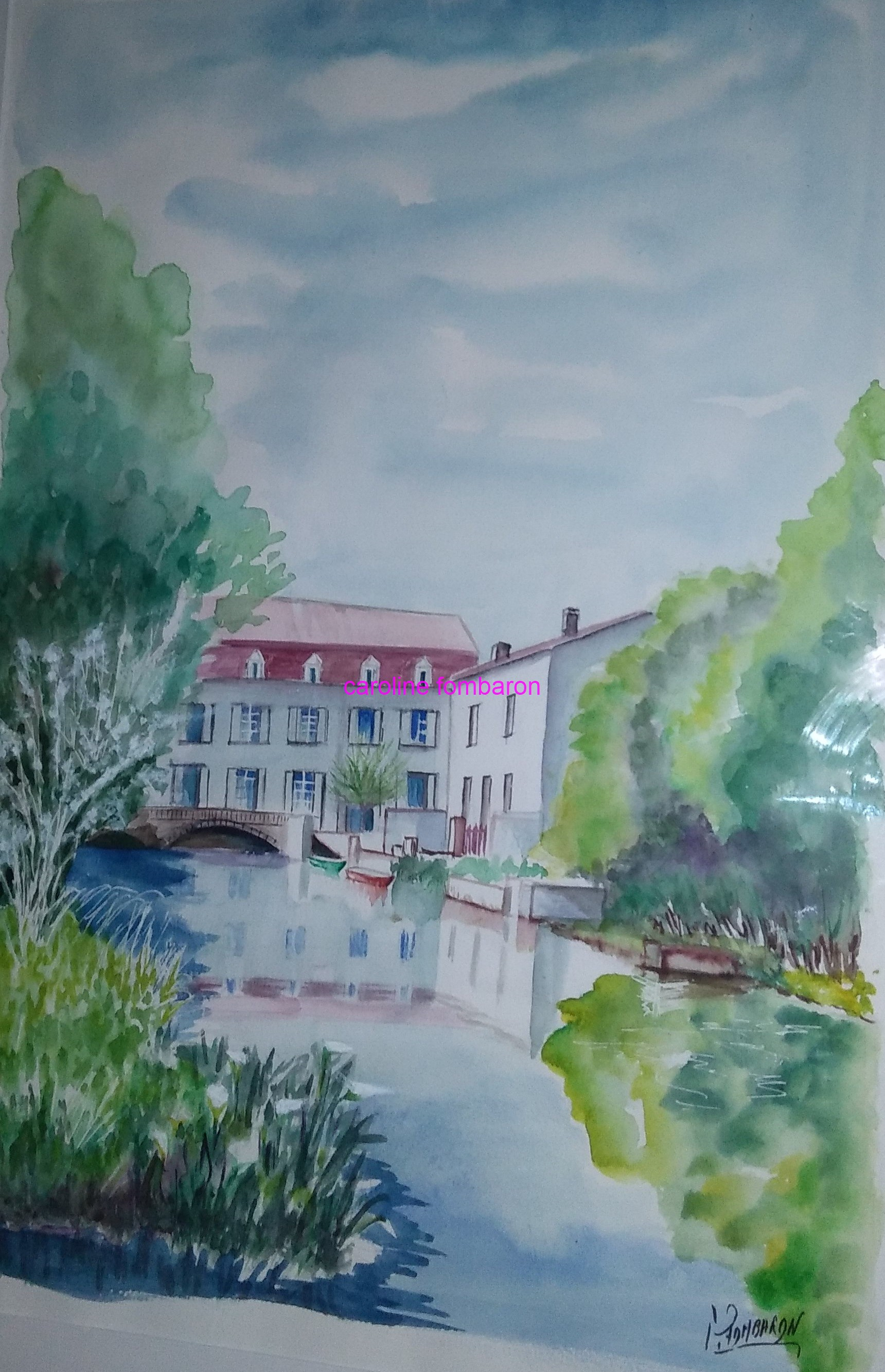 Moulin de Bassac (aquarelle)