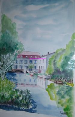 Moulin de Bassac (aquarelle)