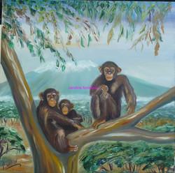 Famille de singes