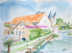 Moulin de Verteuil (aquarelle)