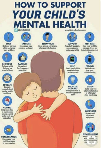 How to support YOUR Child's Mental Health.