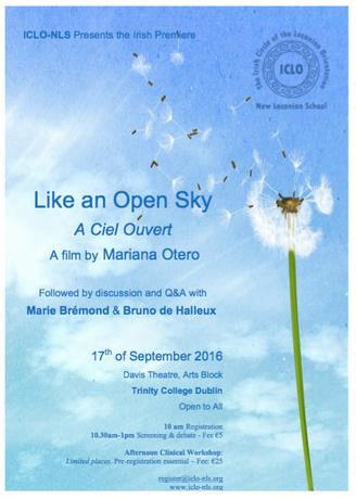 "ICLO-NLS, Irish Premiere of the Documentary ""Like an Open Sky"" by Mariana Otero. & Cli"