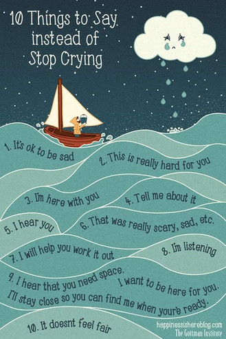 10 things to say instead of stop crying.