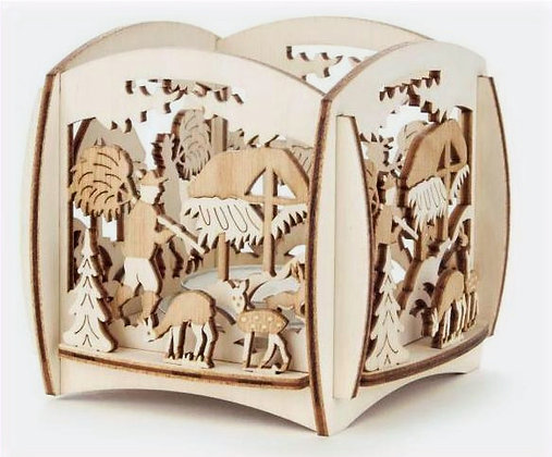 Wildlife Walled Tealight Holder