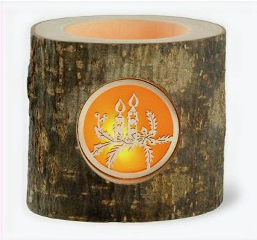 Bark Tealight Holder w/ Candle Design