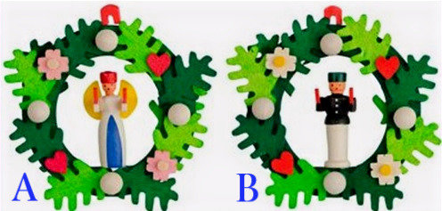 Wreath Ornament w/ Angel or Miner