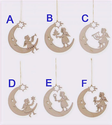 Wooden Moon Ornament