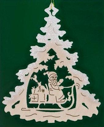 Santa Sleigh Christmas Tree Ornament