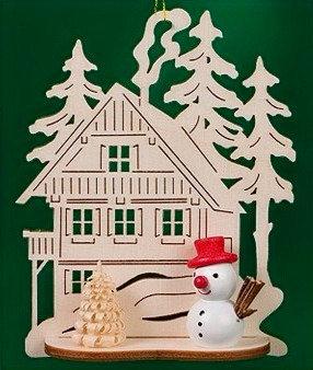Chalet Snowman Ornament