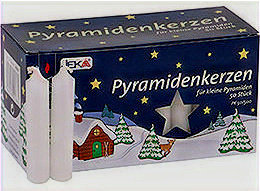 White Pyramid Candles (Set of 2)