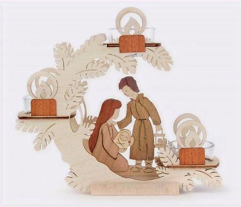 Nativity Tiered Tealight Holder