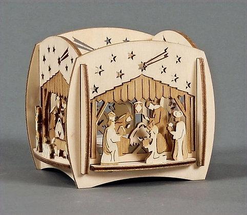 Nativity Walled Tealight Holder