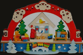 Santa Toy Shop Arch (Lighted)