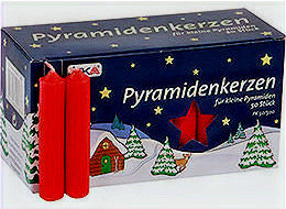 Red Pyramid Candles (Set of 2)