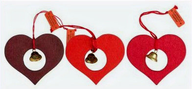 Heart & Bell Ornament