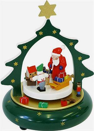 Santa Workshop Music Box