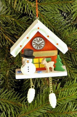Snowman Cuckoo Clock Ornament