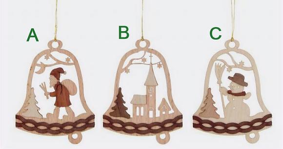Wooden Bell Ornament