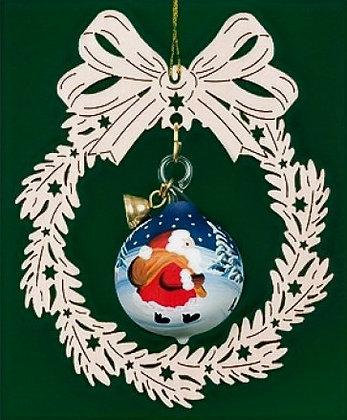Santa Hand-Painted Blown Glass Ornament